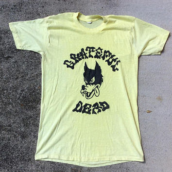 Grateful Dead Dire Wolf paper thin MEDIUM vintage 70s shirt burn out