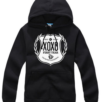 EXO XOXO FIRST YEAR WOLF LUHAN KRIS TYPE HOODIE SWEATER KPOP NEW GOODS