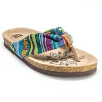 MUK LUKS Willow Women's Footbed Thong Sandals