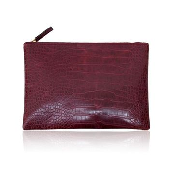 Clutches Evening Bag Crocodile Envelope