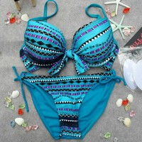 Bohemian Striped Bikini Set