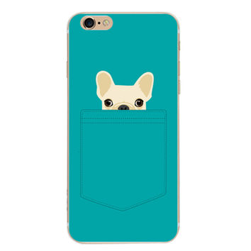 Cute Mini Dog Case Cover for iPhone 6 6s Plus iPhone 7 7plus + Gift Box-461