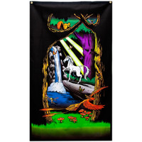 Unicorn - Black Light Tapestry & 3D Glasses