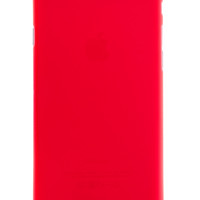 Red Frosted Transparent Soft Case for iPhone 6