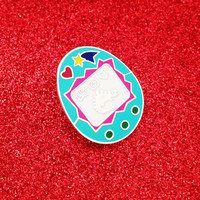 Virtual Pet Enamel Lapel Pin Badge - Tamagotchi