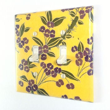 Yellow Flower Switch Plate - Double Toggle