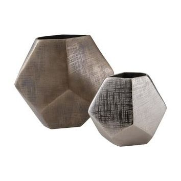 Lazy Susan Faceted Cube Vases