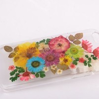 Real Dried Flower and Leafs for iPhone 5 Case