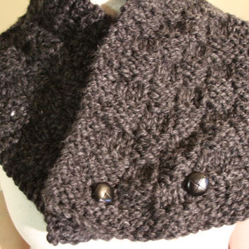 Knit Chunky Scarf For Men Knitted Cowl Men Winter Fashion Scarf For Him Ready To Ship