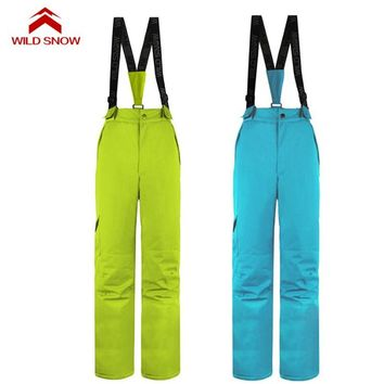 Women's Water Repellent Ski Pants Winter Outdoor Sport Snowboarding Bib Pant Overalls Windproof Snow Skiing Trousers S-XXL