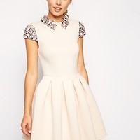 ASOS Embellished Collar Prom Dress