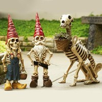 Skel-e-gnome Garden Sculptures | Outdoor Living | SkyMall