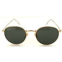 Cheap NEW Ray-Ban Sunglasses Round Metal RB3447 001 50mm Green G-15 Lens