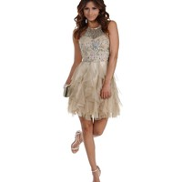 Kendale- Champagne Prom Dress