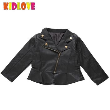 Trendy KIDLOVE Kids PU Leather Jacket for Boys Girls Spring Autumn Punk Rock Clothes Children Outwear Christmas Gift Coats Costume ZK30 AT_94_13