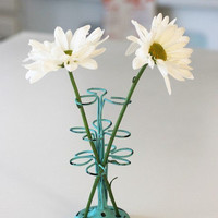 French Seaside Style & Beach Home Decor â?? Flower Frog, Small Wire in Turquoise