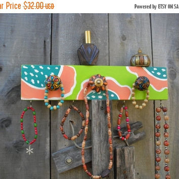 Christmas In July Sale Wall mount jewelry holder Jewelry display shelf  Scarf rack Jewelry wall mount Key holders Coat rack   ©Jack Jack's W