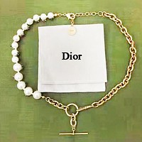 DIOR Fashion More Pearl Necklace Personality Accessories