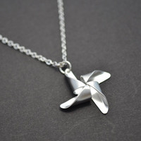 Cute pinwheel pendant necklace by LilliDolli on Etsy