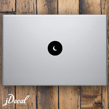 Moon Circle Logo Macbook, Macbook Pro, Macbook Air, iPad & iPad Mini Decal / Sticker