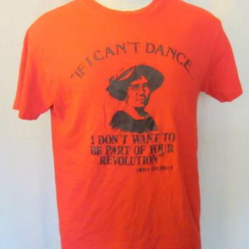 Vintage Rare 80s EMMA GOLDMAN ANARCHIST Punk Rock Revolution History Graphic Classic Small Medium Hanes Cotton Unisex T-Shirt