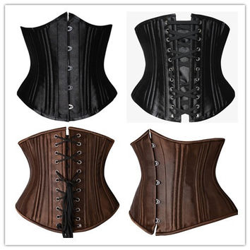 Body Sexy Waist Shaper Steel Boned Palace Slim Corset [4965317636]