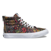 Floral Leather SK8-Hi Slim Zip | Shop at Vans