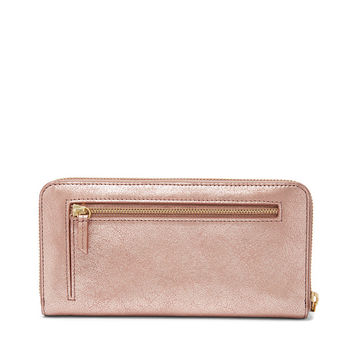 Emma RFID Large Zip Clutch - $85.00