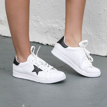 Just Like You White Black Star Sneaker