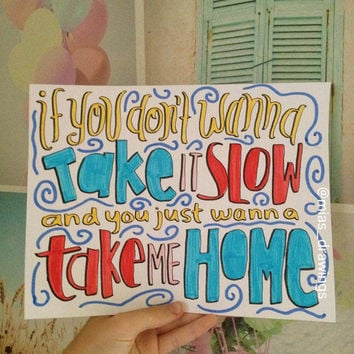 Kiss You- One Direction lyric art