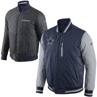 Nike Dallas Cowboys Defender Reversible Full Zip Jacket - Navy Blue/Charcoal