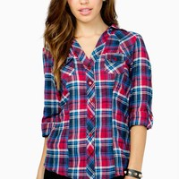 Two Pocket Roll Sleeve Flannel Shirt