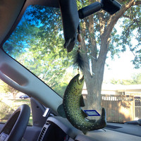 Handmade Fishing Trout Hook Mirror Hanging Car by TexasRoots