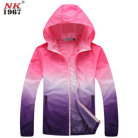 Unisex Fashion Slim Coat Outdoor Sports UV Coat Sunscreen Clothing Large Size Coats Long Sleeved Women's Jacket S-4XL