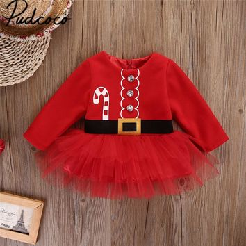 Children Girls Red Dress for Christmas Cute Kids Christmas Princess Toddler Baby Girl Tulle Tutu Dress Party Outfits Costume