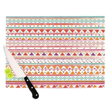 "Nika Martinez ""Native Bandana"" Cutting Board"
