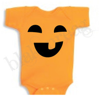 FUNNY Jack-O-Lantern Baby Shirt Creeper Baby Shower Infant T-Shirt Cute Halloween Costume ORANGE Romper Rabbit Skins