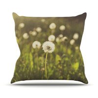 "Libertad Leal ""As You Wish"" Dandelions Throw Pillow"