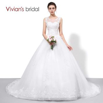 Bridal Lace Tulle A Line Country Western Wedding Dresses Sleeveless Bride Bridal Dress Wedding Gown