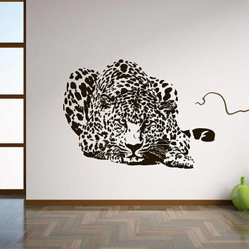 Leopard wall decal, wild animal wall stickers, zoo animal wall decals, animal print wall stickers, spotty panther wall decals /i67