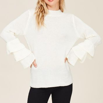 Ricki Ruffle Bell Sleeve Sweater