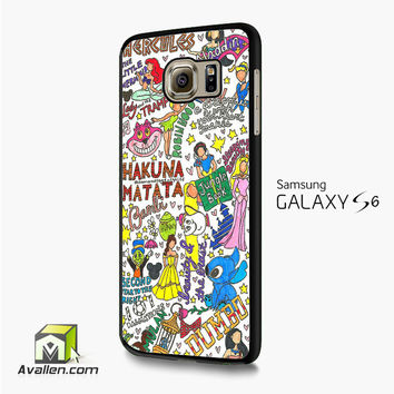 Collage Art Disney Samsung Galaxy S6 /S6 Edge Case by Avallen