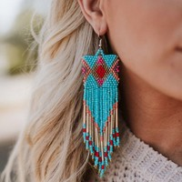Maui Wowie Beaded Fringe Earrings