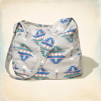 Vintage Printed Shoulder Bag