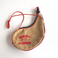 Vintage Jaialdi 1995 Basque Bota Bag, Vintage Basque Wineskin Made in Spain