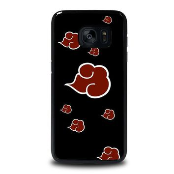 naruto akatsuki clouds samsung galaxy s7 edge case cover  number 1