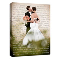 Personalized Couple gift Wedding Photo & First Dance Canvas - Geezees