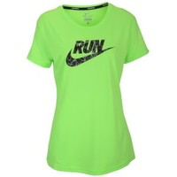 Nike Dri-Fit Graphic Running T-Shirt - Women's at Lady Foot Locker