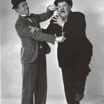 Laurel and Hardy Slapstick Comedy Poster 24x36