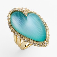 Women's Alexis Bittar 'Lucite' Crystal Encrusted Cocktail Ring